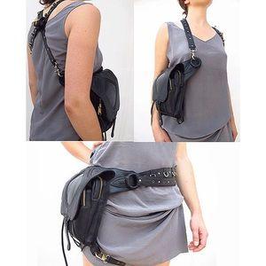Handbags - Bad Ass Adjustable Convertible Black Body Bag